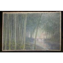Ito Yuhan: Bamboo Grove by Stream - Japanese Art Open Database