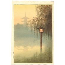 Ito Yuhan: Beautiful misty garden pond - Japanese Art Open Database