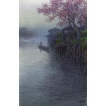 Ito Yuhan: Cherry Blossoms and boat - Japanese Art Open Database