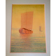 Ito Yuhan: Junks and Yellow Sky - Japanese Art Open Database