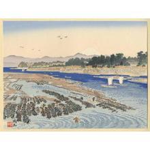 Jokata Kaiseki: Benten Island and Mt Fuji - Japanese Art Open Database