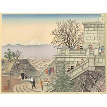 Jokata Kaiseki: Fuji from Maitsu Castle- Fuji from Kofu Park — 舞鶴城からの富士 - Japanese Art Open Database