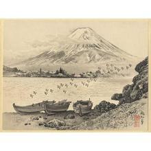 Jokata Kaiseki: Mt Fuji Reflecting in Lake Kawaguchi - Japanese Art Open Database