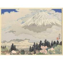 Jokata Kaiseki: Mt Fuji from Kami-ide Village - Japanese Art Open Database