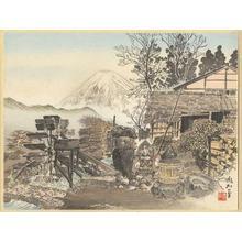 Jokata Kaiseki: Rural cottages of Onuma and Mt Fuji - Japanese Art Open Database