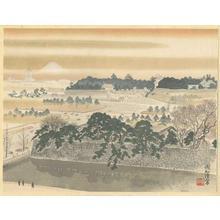 Jokata Kaiseki: The Tokyo Imperial Palace and Mt Fuji — 皇居からの富士 - Japanese Art Open Database