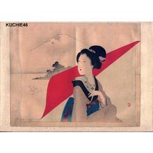 梶田半古: Bijin and Fuji - Japanese Art Open Database