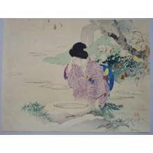 梶田半古: Bijin at water — 仙錦亭 - Japanese Art Open Database