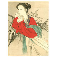 Kajita Hanko: Chinese Lady in Red - Japanese Art Open Database