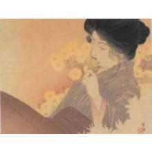 Kajita Hanko: The Scent of Chrysanthemums — 菊のかおり - Japanese Art Open Database