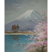 Kamiya: Fuji in spring - Japanese Art Open Database