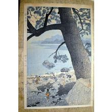 笠松紫浪: Calm Morning On Cape Ajiro, Izu Province - Japanese Art Open Database