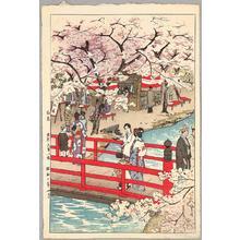 Kasamatsu Shiro: Cherry Blossom Viewing- Tokyo Ohmiya Hachiman - Japanese Art Open Database