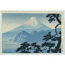 笠松紫浪: Fuji At Sunset - Japanese Art Open Database