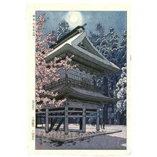 笠松紫浪: Gate at Enkaku Temple, Kamakura- Engakuji - Japanese Art Open Database
