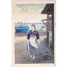 笠松紫浪: Girls on the Shore, Fukuura- Fukuura Hama no Musume - Japanese Art Open Database