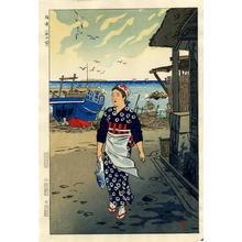 笠松紫浪: Girls on the Shore, Fukuura- Fukuura Hama no Musume - Japanese Art Open Database