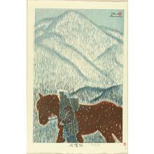 Kasamatsu Shiro: In the pass of Shinano Province — Shinanoji - Japanese Art Open Database