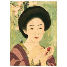 笠松紫浪: Lithograph- Bijin - Japanese Art Open Database