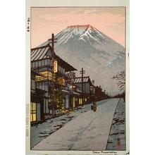 笠松紫浪: MT. FUJI FROM YOSHIDA - Japanese Art Open Database