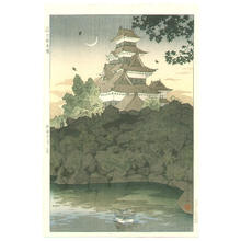 笠松紫浪: Matsumoto Castle in Shinshu - Japanese Art Open Database