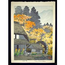 Kasamatsu Shiro: Mountain Cottage in Autumn - Japanese Art Open Database