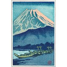 笠松紫浪: Mt Fuji in Evening Glow - Japanese Art Open Database