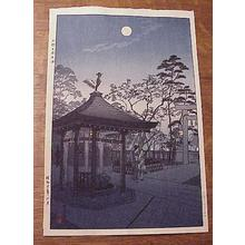 Kasamatsu Shiro: Night AT Gojo Tenjin Shrine - Japanese Art Open Database