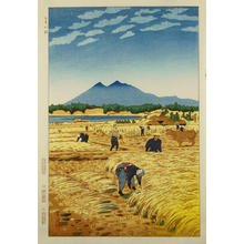 Kasamatsu Shiro: Rice Harvesting - Japanese Art Open Database