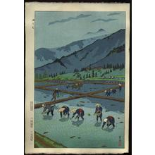 Kasamatsu Shiro: Rice Planting — Taue - Japanese Art Open Database