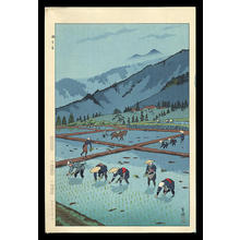 笠松紫浪: Rice Planting — Taue - Japanese Art Open Database