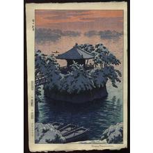 Kasamatsu Shiro: Snow In Matsushima, Matsujima - Japanese Art Open Database