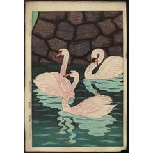 Kasamatsu Shiro: Spring at the Moat (Ohari no Haru) - Japanese Art Open Database