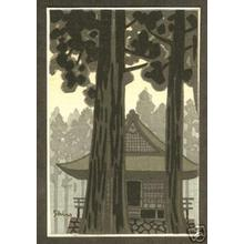 Kasamatsu Shiro: Temple in Woods - Japanese Art Open Database