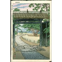 笠松紫浪: Tokyos famous garden- Rokugi Koku, middle entrance - Japanese Art Open Database