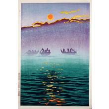 笠松紫浪: Waves in the Morning - Japanese Art Open Database