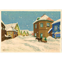 Kato Yasu: Snow in Nemuro - Japanese Art Open Database