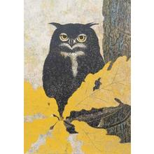 Katsuda Yukio: No 118- Owl — 梟 - Japanese Art Open Database