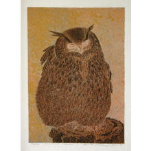 Katsuda Yukio: No 120- Owl - Japanese Art Open Database