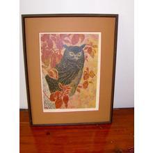 Katsuda Yukio: No 123- Owl - Japanese Art Open Database