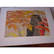 Katsuda Yukio: No 133- Owl - Japanese Art Open Database