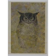 Katsuda Yukio: No 65- Horned Owl — みみずく - Japanese Art Open Database