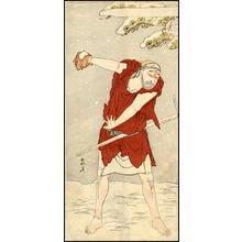 勝川春好: Actor Onoe Matsusuke I as a mendicant monk - gannin bozu - Japanese Art Open Database