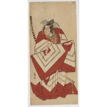 Katsukawa Shunko: Ichikawa Yaozo III in a Shibaraku role - Japanese Art Open Database