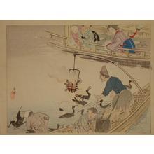 Kawai Gyokudo: Nagaragawa Cormorant Fishing - Japanese Art Open Database