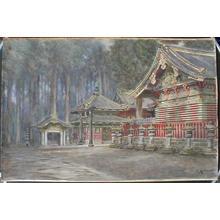 Kawakubo Masano: Shrine with Torii - Japanese Art Open Database