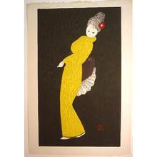 Kawano Kaoru: Dancing Figure (Camellia) - Japanese Art Open Database