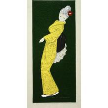 Kawano Kaoru: Dancing Figure (Camellia), LE - Japanese Art Open Database