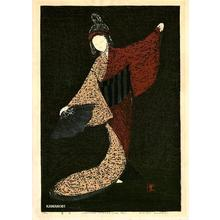Kawano Kaoru: Dancing Figure, Mai Ogi- LE - Japanese Art Open Database