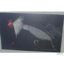 Kawano Kaoru: Rooster Running - Japanese Art Open Database